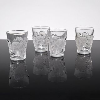 "4 Lalique ""Chene"" Glasses"