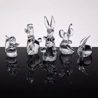 6 Daum Animal Figurines