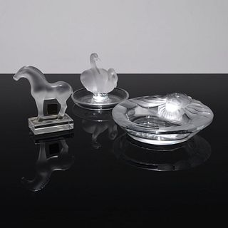 3 Lalique Pieces