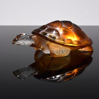 "Lalique ""Caroline"" Turtle Paperweight/Sculpture"