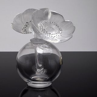 "Lalique ""Double Anemone"" Perfume Bottle"