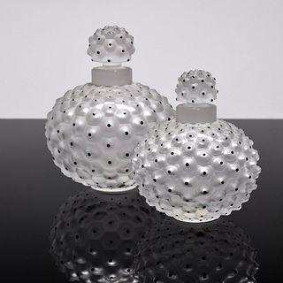 "2 Lalique ""Cactus"" Perfume Bottles"
