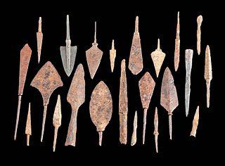 22 Roman and Near Eastern Iron & Bronze Arrow Tips