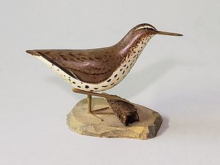 Miniature Hand Carved and Painted Shorebird Decoy