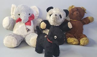 4 Vintage Gund and Character Stuffed Animals