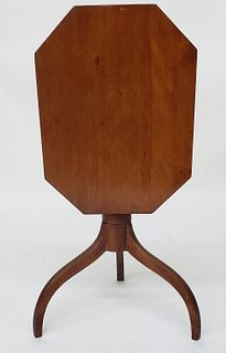 American Federal Cherry Tilt Top Candlestand, early 19th Century