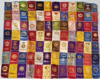 Vintage College Tobacco Silk Square Patchwork Mat