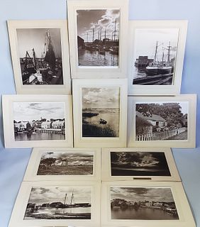 10 James Francis Barker Vintage Black and White Photographs of Nantucket