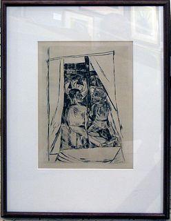 """Max Beckmann. """"Knaben Am Fenster"""" or """"Boys at a Window"""""""