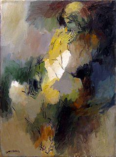 """Manuel Gomez Hassan """"Desnudo verde y amarillo"""""""