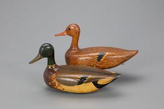 Rare Mallard Pair, Oscar Alford (1883-1962)