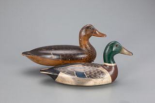 Hollow Mallard Pair, Charles Walker (1873-1954)