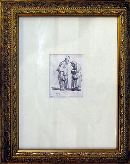 """Rembrandt, """"Beggar Family and the Tramp"""