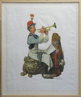 "Norman Rockwell, ""The Trumpet Player"""