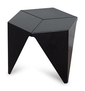 An Isamu Noguchi Black-Painted Aluminum Prismatic Stool Table