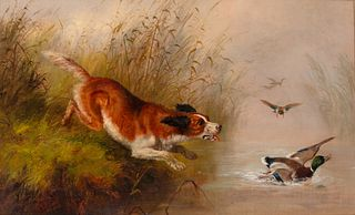 Arthur Fitzwilliam Tait (1819-1905) Retrieving a Mallard