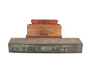 Three Wood Boxes