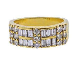 18k Gold Diamond Half Band Ring