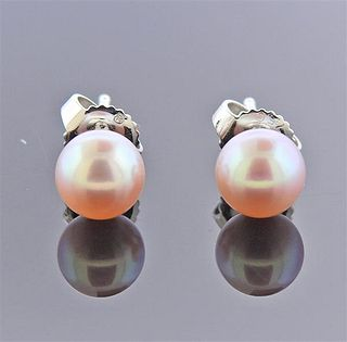 Mikimoto 18k Gold 6.6mm Pearl Stud Earrings