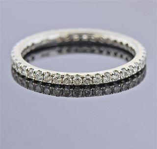 14k Gold Diamond Eternity Wedding Band Ring