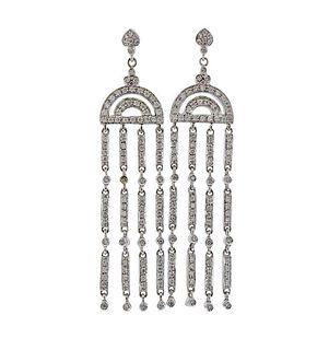 18k Gold Diamond Chandelier Earrings