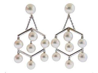 Assael 18k Gold South Sea Pearl Chandelier Earrings
