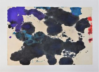 Taro Yamamoto Abstract Expressionist WC Painting