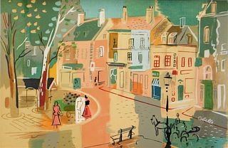 Charles Cobelle Paris Street Scene Painting