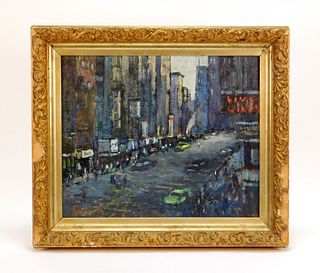 Loretta Feeney New York Street Scene Painting