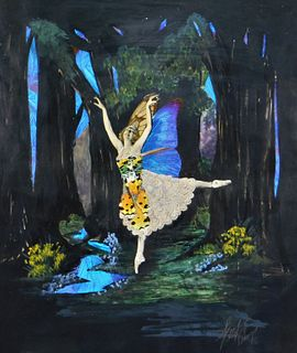Spaj Atkinson Butterfly Wing Ballerina Collage