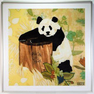 Ari Hauben Panda Was Here Lithograph