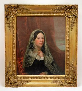 Attrib. Francis Alexander Naive Portrait Painting