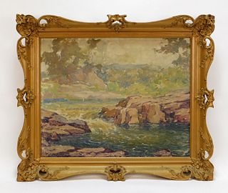 Frederick Boston Impressionist Landscape Painting