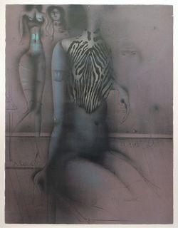 Paul Wunderlich Surrealist Nude Figure Etching