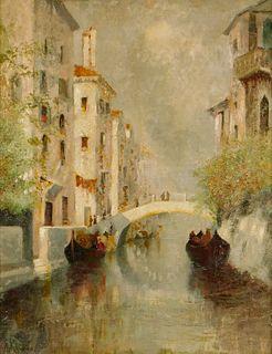 Martin Rico y Ortega Impressionist Canal Painting