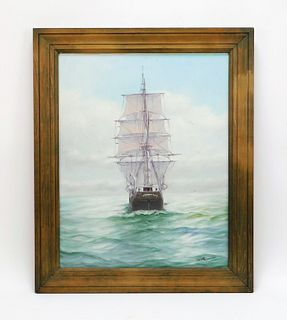 Silva Fernandes Impressionist Ship Naval Painting