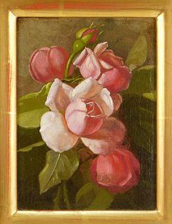Edward C. Leavitt Roses Still Life Painting