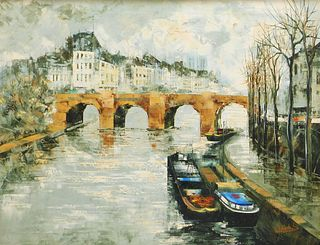 Luc Cossier dit Walles Modern Pont Neuf Painting