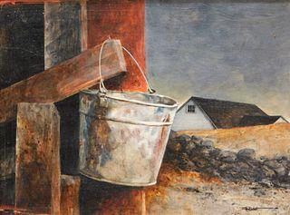 Ron Rudat Bucket Still Life Painting