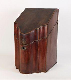 Antique Georgian Inlaid Mahogany Knife Box