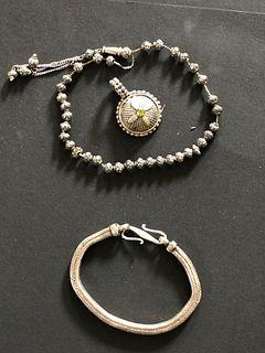 Silver Prayer beads, Bracelet and Pendant