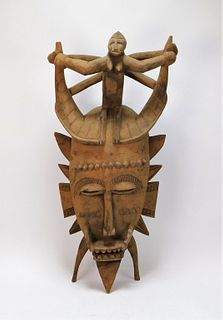 African Senufo Carved Wood Mask