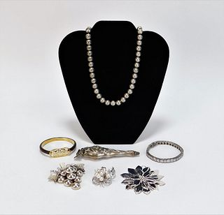 7PC Tiffany & Lady's Sterling Silver Jewelry Group
