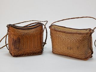 PR Antique Japanese Ikebana Basket Purses