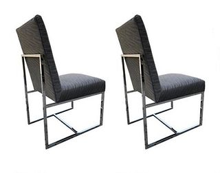 Pair of Milo Baughman Chairs 4 Thayer Coggin