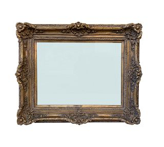 Large Carved Mirror With Gold Gilded Frame 55 w X 45 h