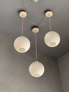 Set of 3 pendant Lights with Glass Globes