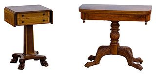 Empire Mahogany Side and Game Table Assortment