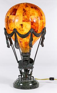 (Attributed to) Maitland Smith Pin-Shell Balloon Lamp