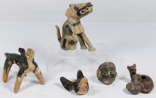 Pre-Columbian Style Dog Figurine Assortment